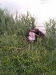Bayka mit der ersten Ente